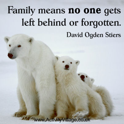 Family means no one gets left behind or forgotten. David Ogden Stiers