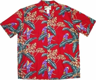 Red Jungle Bird Magnum PI Shirt
