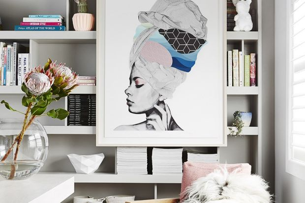 Stylish kitchen - bookcase