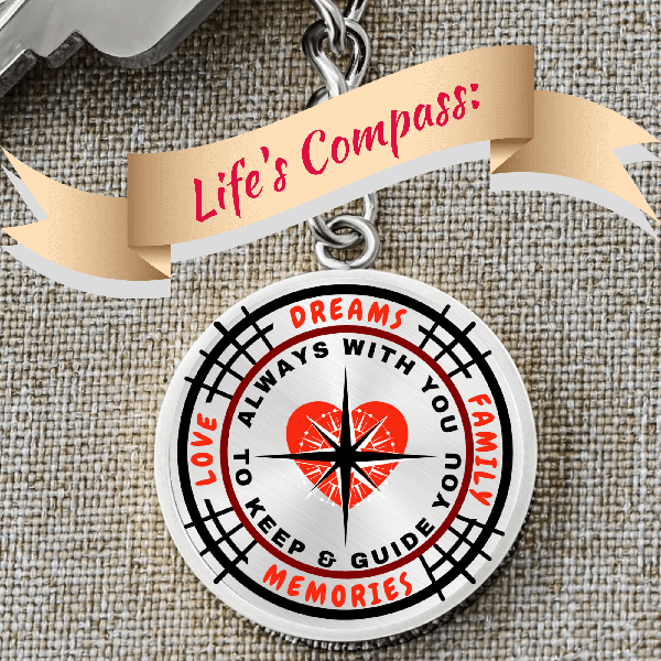 Life's Compass Keychain