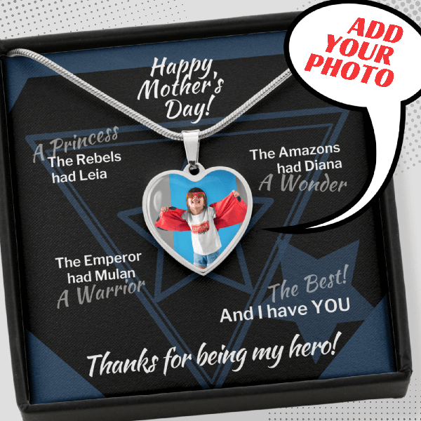 Mom Is My Hero Personalized Necklace