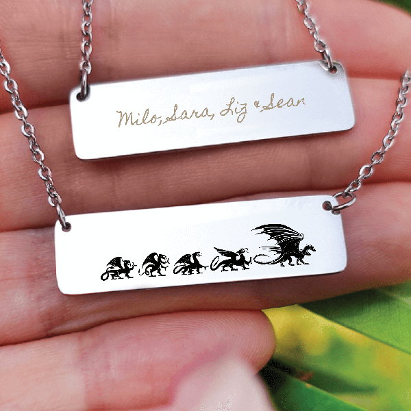 Personalized Mama Dragon Necklace