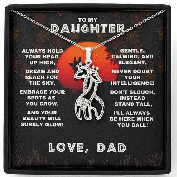Daughter Giraffe Necklace