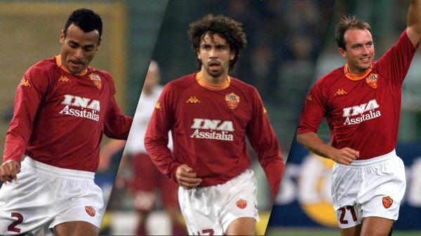 00/01 Roma Home Red&Yellow Soccer Retro Jerseys Shirt