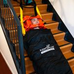 Evacueren met inflatable model