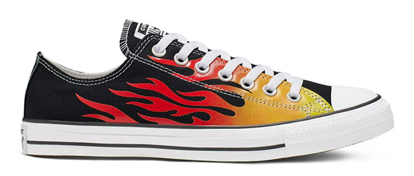 Converse Chuck Taylor All Star Low Top Archive Flame Black