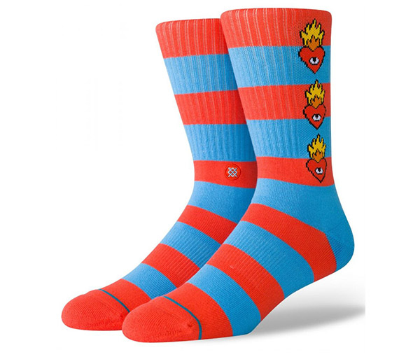 Stance Socks Mens Cavolo Tiger Crew White