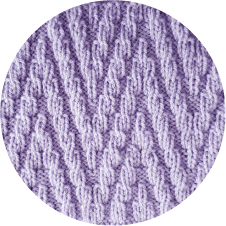 Close-up to a lavender knitted fabric