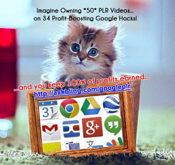 50 PLR Videos on Google Goodness!