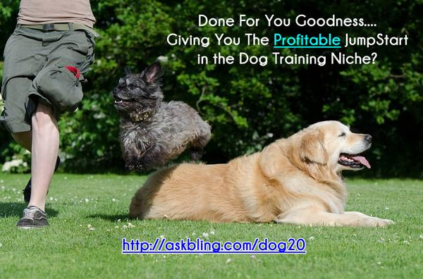 Done For You Dog Training PLR! (and you're shown what product to promote!)