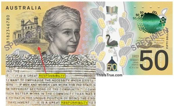 The new note, and a zoom showing the error