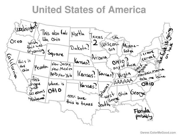Finding Ohio: not any easier with this map.
