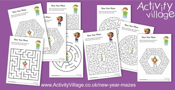 Get lost in our new New Year mazes!