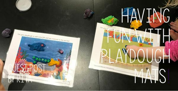 Guest Post - Having fun with playdough mats