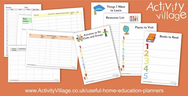 New useful home education planners