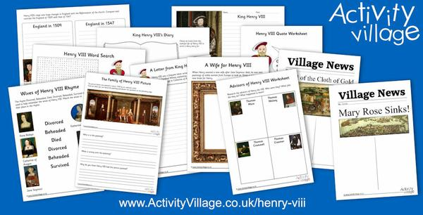 We've been learning about Henry VIII and his exploits, advisers and wives!