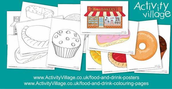 We've added to our food and drink topic with these bakery themed colouring pages and posters