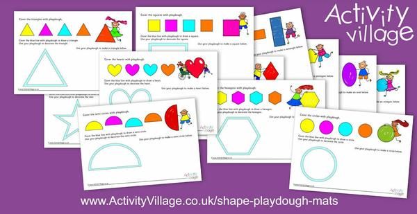 Our new shape playdough mats are bright and appealing and fun!