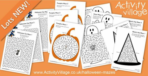 A bundle of tricky mazes for Halloween!