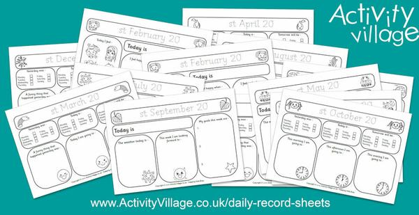 Have you seen our daily record sheets?