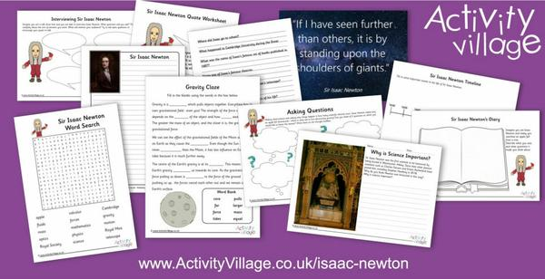 Our latest famous person - Isaac Newton