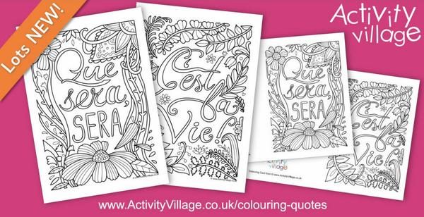 Our latest colouring quote pages and cards