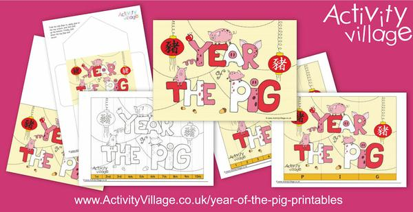 Explore our latest Year of the Pig printables