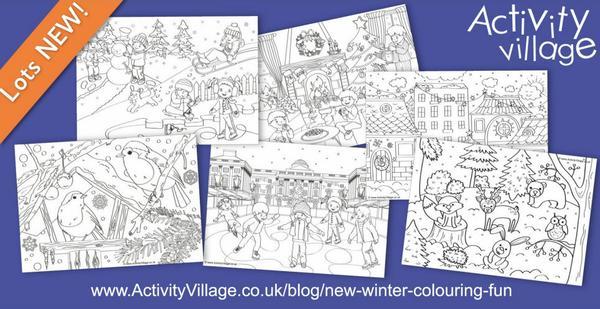 New winter colouring fun