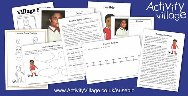 Learning about football hero, Eusebio