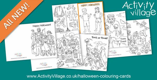 New Halloween colouring cards for something a little different!