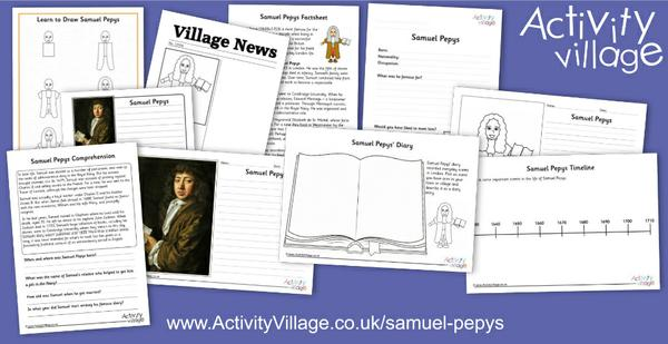 Our famous person of the week is Samuel Pepys