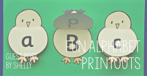 Guest Post - Fun Alphabet Printouts