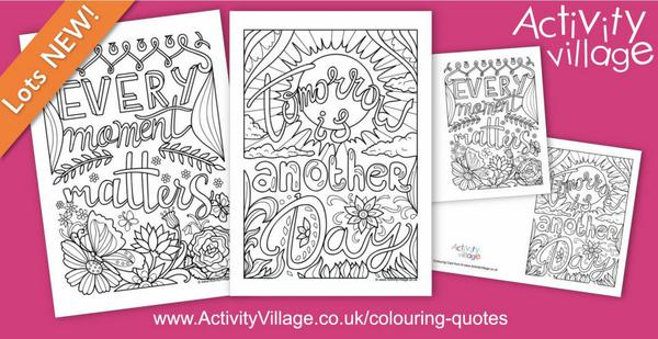 2 gorgeous new colouring quote cards and pages just added