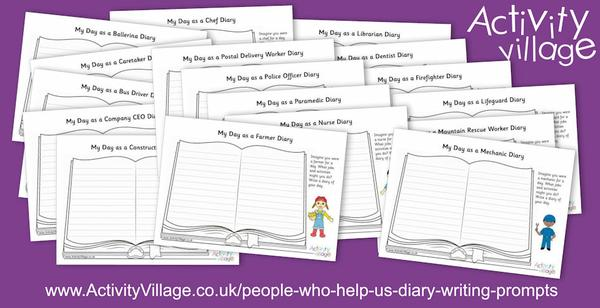 People Who Help Us Diary Writing Prompts