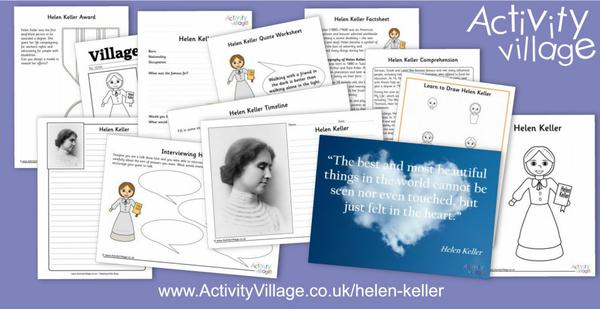 Our famous person this week is the remarkable Helen Keller