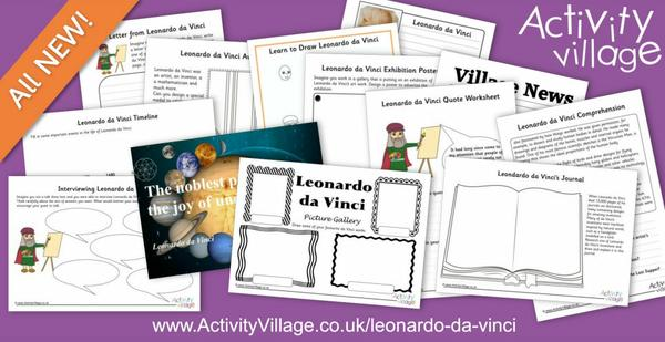 Learning about Leonardo da Vinci - a man of many talents!