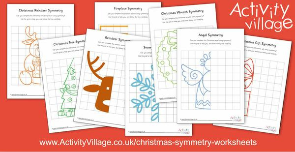New Christmas symmetry worksheets