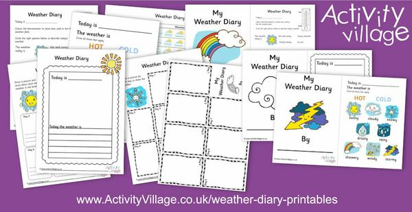 New weather diary printables for observing and recording the weather.