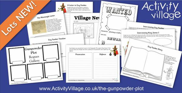 Topping up our Guy Fawkes and Gunpowder Plot worksheets collection