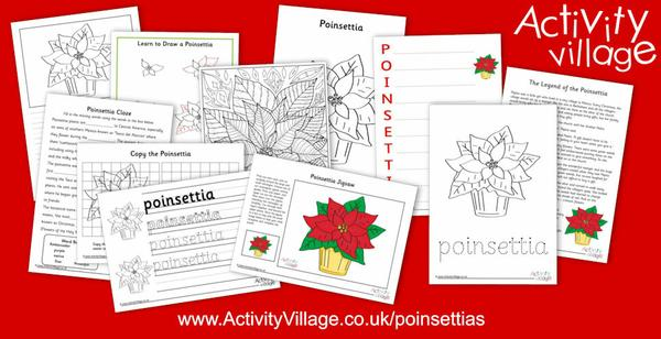A new collection of poinsettia activities