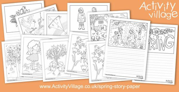 New spring story paper designs