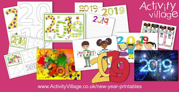 Here's a peak at some of our newest New Year printables