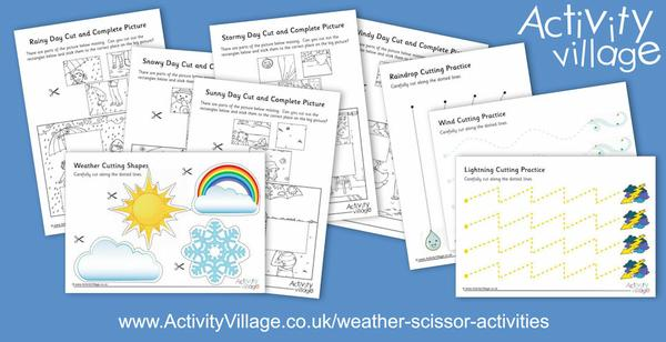 We've been adding to our weather scissor activities