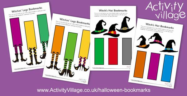 Adding to our collection of Halloween bookmarks