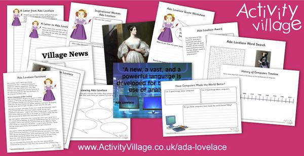 Learning about Ada Lovelace, the world's first computer programmer!