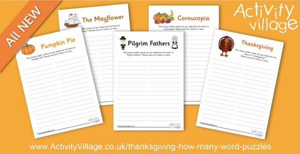 New Thanksgiving puzzles - How Many Words?