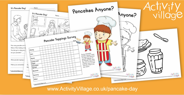 Fun new activities added to our Pancake Day collection