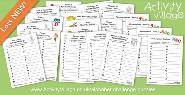 20 new alphabet challenge puzzles to test your word power!