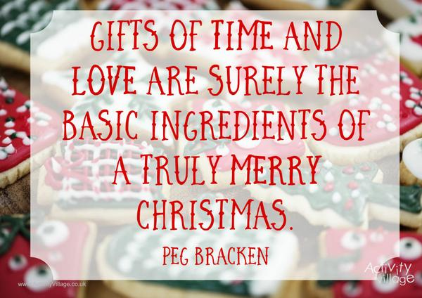 Gifts of time and love - Christmas quotes posters