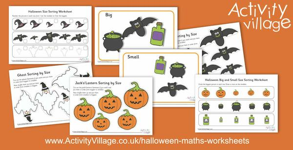 New Halloween size sorting activities and worksheets just added.